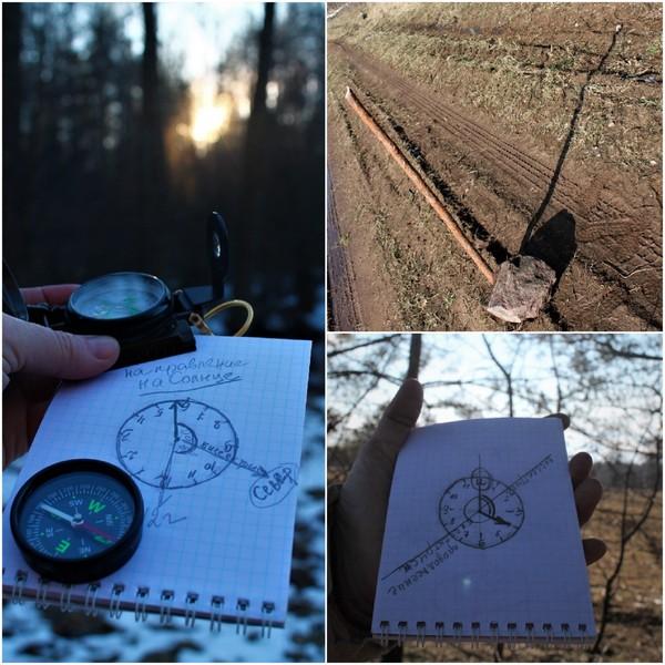 компас север солнце