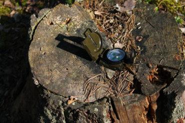 лес компас поход